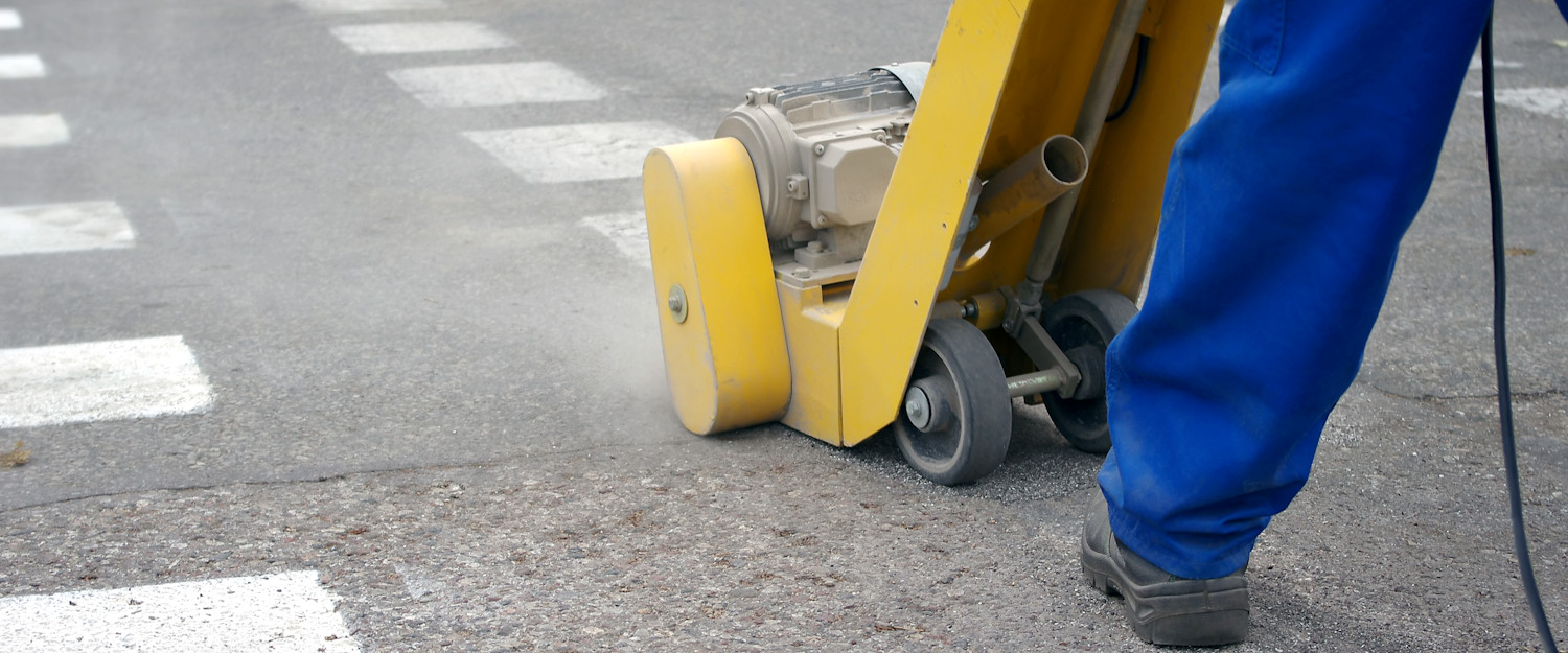 line marking removal using surface planer scabbler scarifier